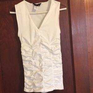 Gathered detail sleeveless top